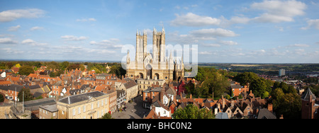[Lincoln Cathedral] Lincolnshire UK - Stock Photo