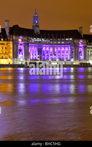 County Hall, South Bank, London SE1, United Kingdom - Stock Photo