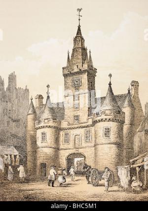 The Netherbow Port, Edinburgh, Scotland. Demolished 1764. - Stock Photo