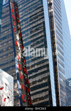Ernst & Young headquarters in Times Square New York - Stock Photo