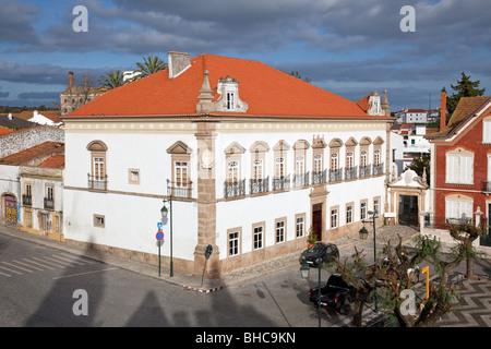 Alamo Palace in Alter do Chão, Portalegre District. Portugal. - Stock Photo