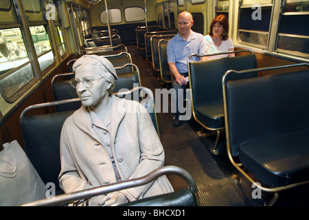 Rosa Parks Bus Boycott Exhibit, National Civil Rights Museum, Memphis, Tennessee, USA - Stock Photo