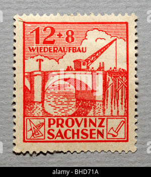 Sachsen Province, German Postage Stamp. - Stock Photo