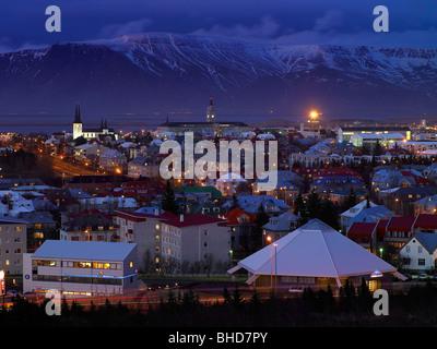Winter Reykjavik, Iceland - Stock Photo