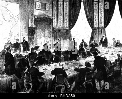 politics, conferences, Congo conference, Berlin, 15.11.1884 - 26.2.1885, Additional-Rights-Clearances-NA - Stock Photo