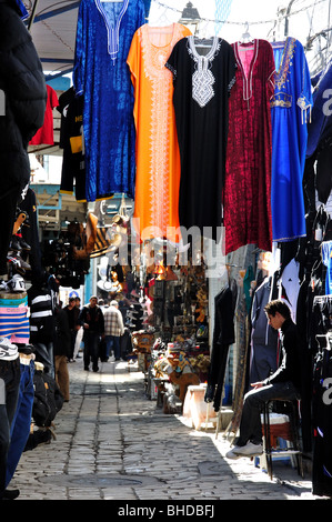 Shops in Sousse Medina, Sousse, Sousse Governorate, Tunisia - Stock Photo