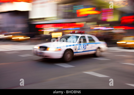 New York Police car in Times Square - Stock Photo