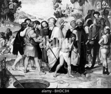 Joseph (son of Jacob and Rachel) is sold into slavery in ...