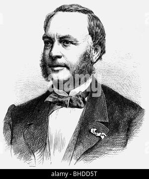 Hachette, Louis, 5.5.1800 - 31.7.1864, French bookseller, publisher, founder of Hachette S.A., Librairie, portrait, - Stock Photo