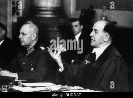 Freisler, Roland, 30.10.1893 - 3.2.1945, German jurist, President of the Volksgerichtshof (People's Court) 1942 - Stock Photo