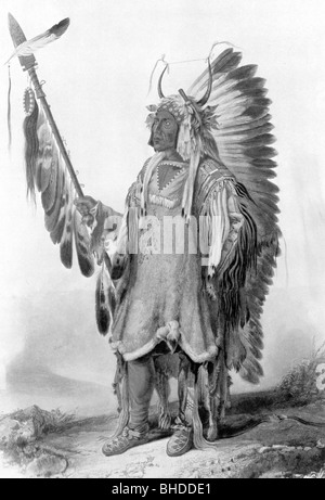 geography / travel, United States of America, American Indians, Mato Topah, circa 1800 - 30.7.1837, chieftain of - Stock Photo