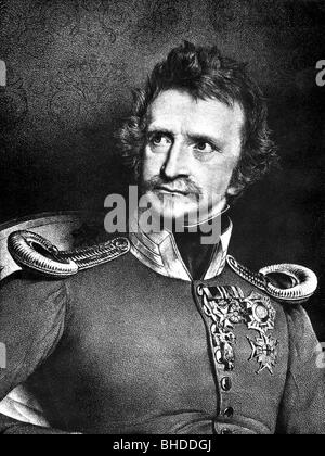 Louis I, 25.8.1786 - 29.2.1868, King of Bavaria 16.2.1825 - 20.3.1848, portrait, lithograph, 19th century, Additional - Stock Photo