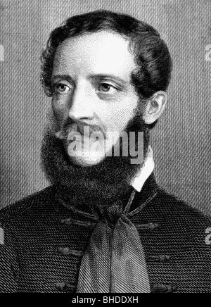 Kossuth, Lajos, 16.9.1802 - 20.3.1894, Hungarian politician, portrait, copper engraving, circa 1850, Artist's Copyright - Stock Photo