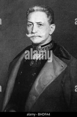 Conrad von Hoetzendorf, Count, 11.11.1852 - 25.8.1925, Austrian field marshal, chief of the general staff of the - Stock Photo