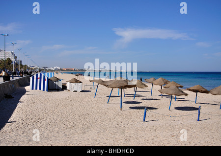 Beachfront promenade, Sousse, Sousse Governorate, Tunisia - Stock Photo