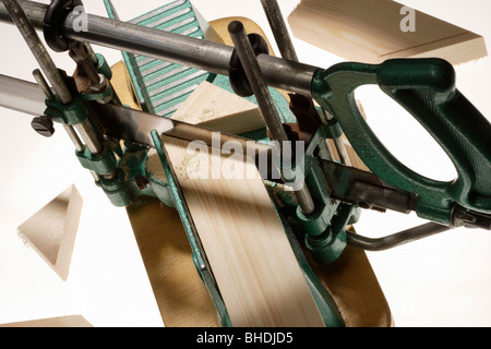 Mitre joint wood saw - Stock Photo