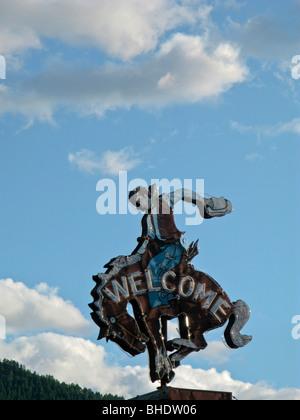 welcome, jackson, wyoming, usa - Stock Photo
