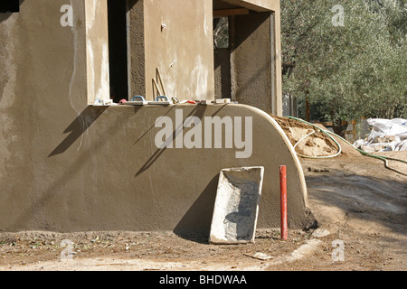 House construction site - Stock Photo