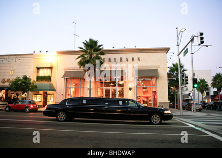 limousine, beverly hills, los angeles, california - Stock Photo