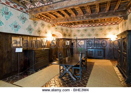 castello della manta, manta, piedmont, italy - Stock Photo