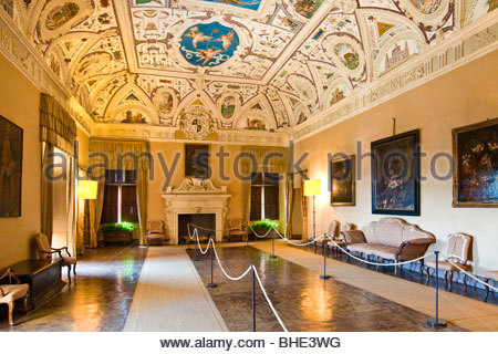 castello della manta, manta, piedmont, italy - Stock Photo