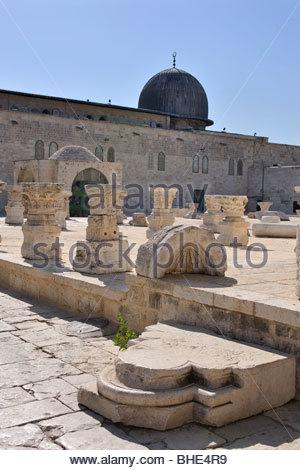 al-aqsa mosque, Temple Mount, the noble sanctuary, Jerusalem, Israel - Stock Photo