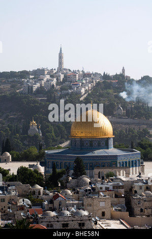 Dome of the Rock. Muslim holy site located on the Temple Mount in the Old City of Jerusalem, Israel - Stock Photo