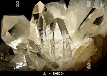 Quartz crystals, SiO2. - Stock Photo
