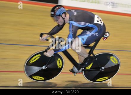 Sir Chris Hoy. Sprint Qualifiers. British Cycling Senior National Track Championships 2009. Manchester Velodrome - Stock Photo