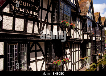 The Old Weaver's House In  Canterbury, England - Stock Photo