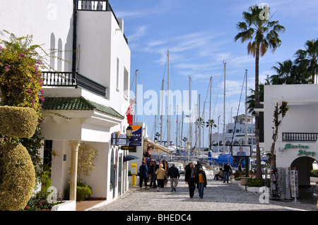 Entrance to marina, Port El Kantaoui, Sousse Governorate, Tunisia - Stock Photo