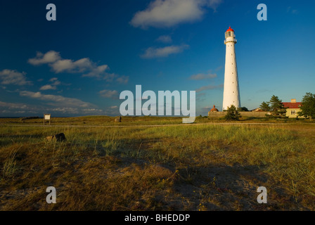 A lighthouse at Tahkuna peninsula at Hiiumaa island, Estonia - Stock Photo