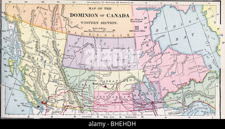 Carte West Canada.Old Map Of Western Part Of Canada From Original Geography Textbook Bhehdh Jpg
