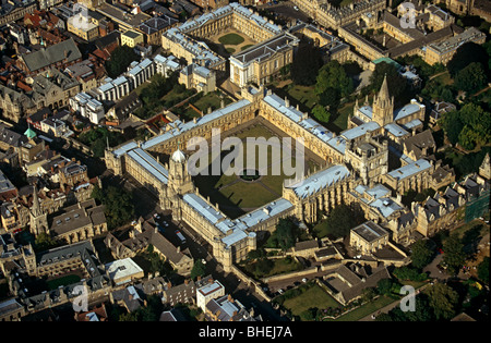 Christchurch college oxford from the air, Oxford, England - Stock Photo