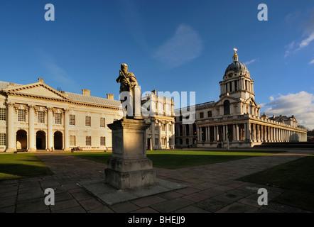 Old Royal Naval Academy at Greenwich, London - Stock Photo