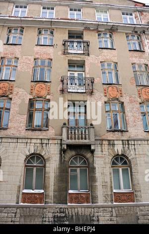 Old KGB building in Tallinn, Estonia. - Stock Photo
