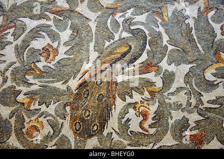 Mosaic de Frigidarium, The Bardo National Museum, Le Bardo District, Tunis, Tunis Governorate, Tunisia - Stock Photo