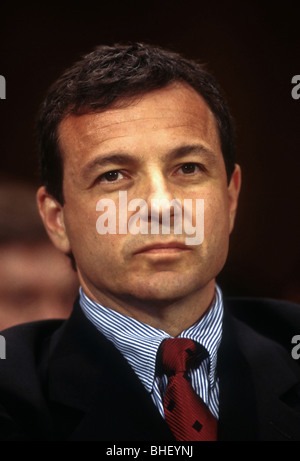 Robert Iger, President of ABC Television testifies in Congress July 7, 1998 in Washington, DC on anti-trust issues - Stock Photo