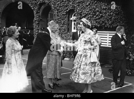Visit of Princess Alexandra 1956 to York, Yorkshire. Artist: Unknown - Stock Photo