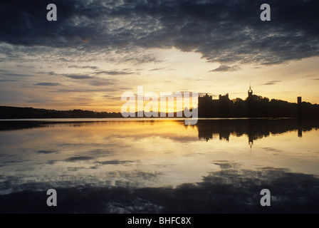 Linlithgow Palace at sunset, Linlithgow, West Lothian, Scotland, Great Britain, Europe - Stock Photo