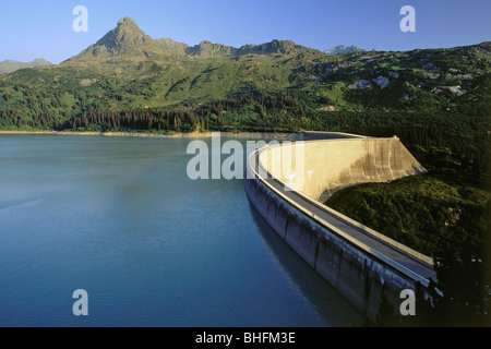 geography / travel, Austria, Vorarlberg, landscapes, reservoir and dam of Kops, Additional-Rights-Clearance-Info - Stock Photo