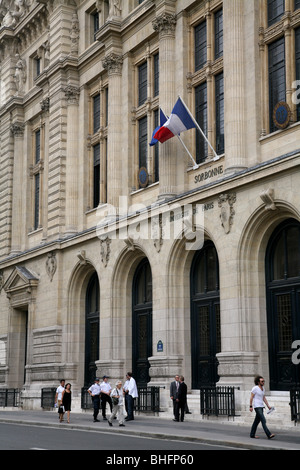 Main Building of the Sorbonne, University of Paris - Stock Photo