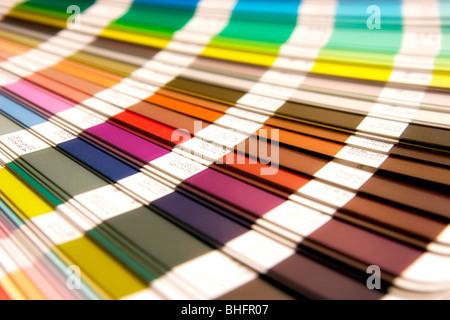 color swatch open pantone sample colors catalogue stock photo - Pantone Color Swatch Book