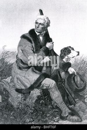 DANIEL BOONE  - US frontiersman (1735-1820) - Stock Photo