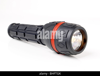 Black Flashlight - Stock Photo