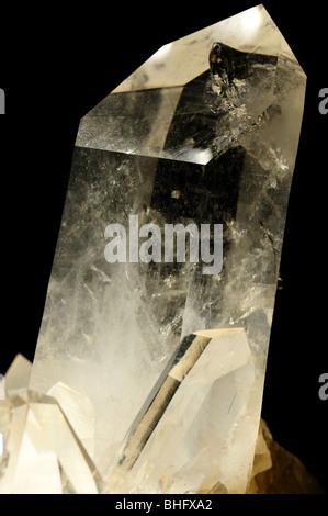 Quartz crystal, SiO2. - Stock Photo