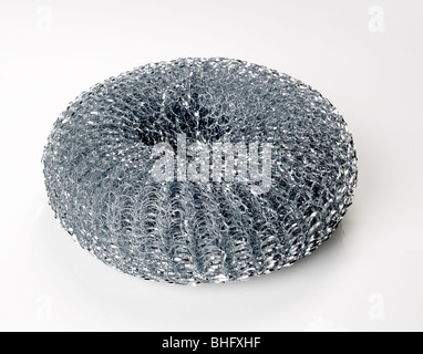 Steel wool scouring pad - Stock Photo