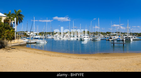 Cullen Bay marina in Darwin. Northern Territory, Australia - Stock Photo