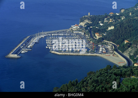 geography / travel, Italy, Finale Ligure, Finale Pia, harbour, Additional-Rights-Clearance-Info-Not-Available - Stock Photo
