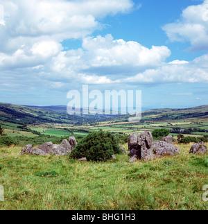 Ossian's Grave, Glenaan, County Antrim. - Stock Photo